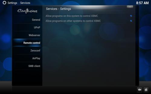 XBMC remote control
