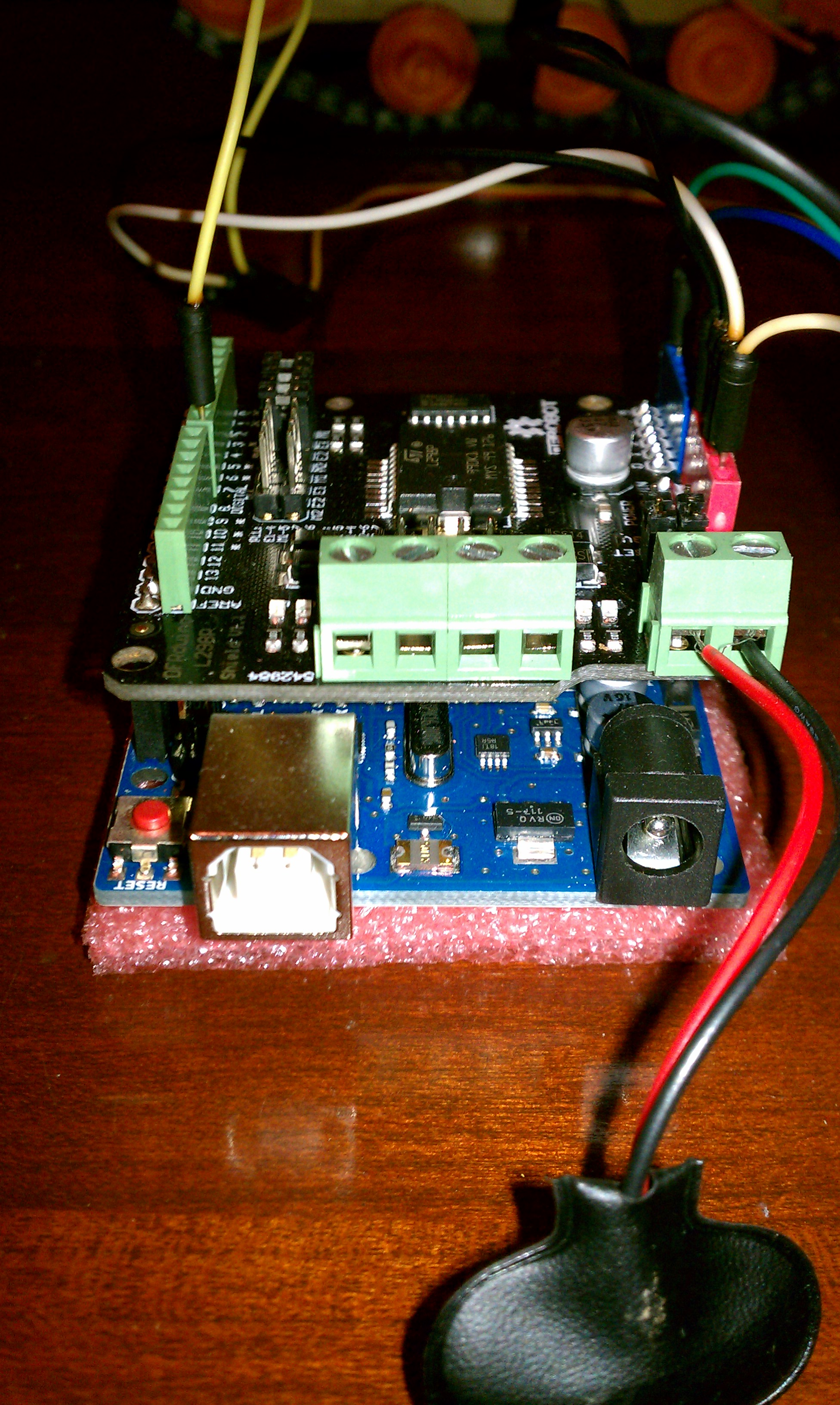 Motor Shield Power and Motor Connections